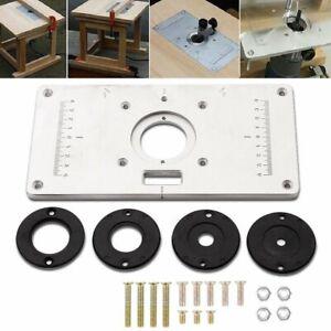 Piastra Per Sega Circolare Elettrica Piastra Per Inserto In Alluminio Regolabile In Alluminio Regolabile Accessori Per Strumenti Per La Lavorazione Del Legno Fai-da-te