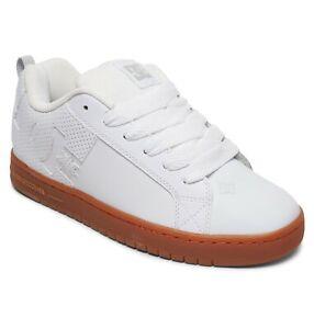 Dc-Shoes-Court-Graffik-Masculino-Tenis-Couro-Branco-sapatos-de-skate-sola-de-borracha-Reino-Unido-10
