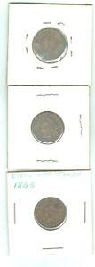 1863 1864 Civil War Tokens Lot of 3 Token Medal Rare