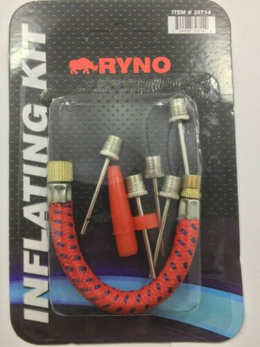 Set of 7 Bicycle Bike Hand Air Pump Tube Hose /& Needles Head Inflating Kit