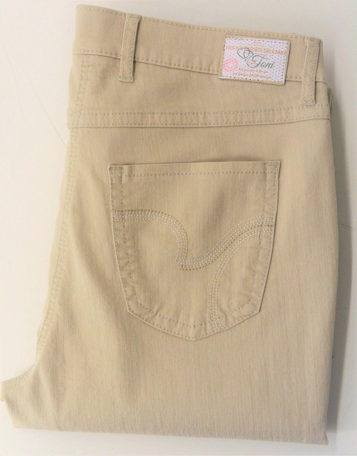 Toni Fashion Perfect Shape, modische 7 8 Jeans in Beige, Stretch, Gr. wählbar   Fein Verarbeitet    Kostengünstig    Vielfältiges neues Design