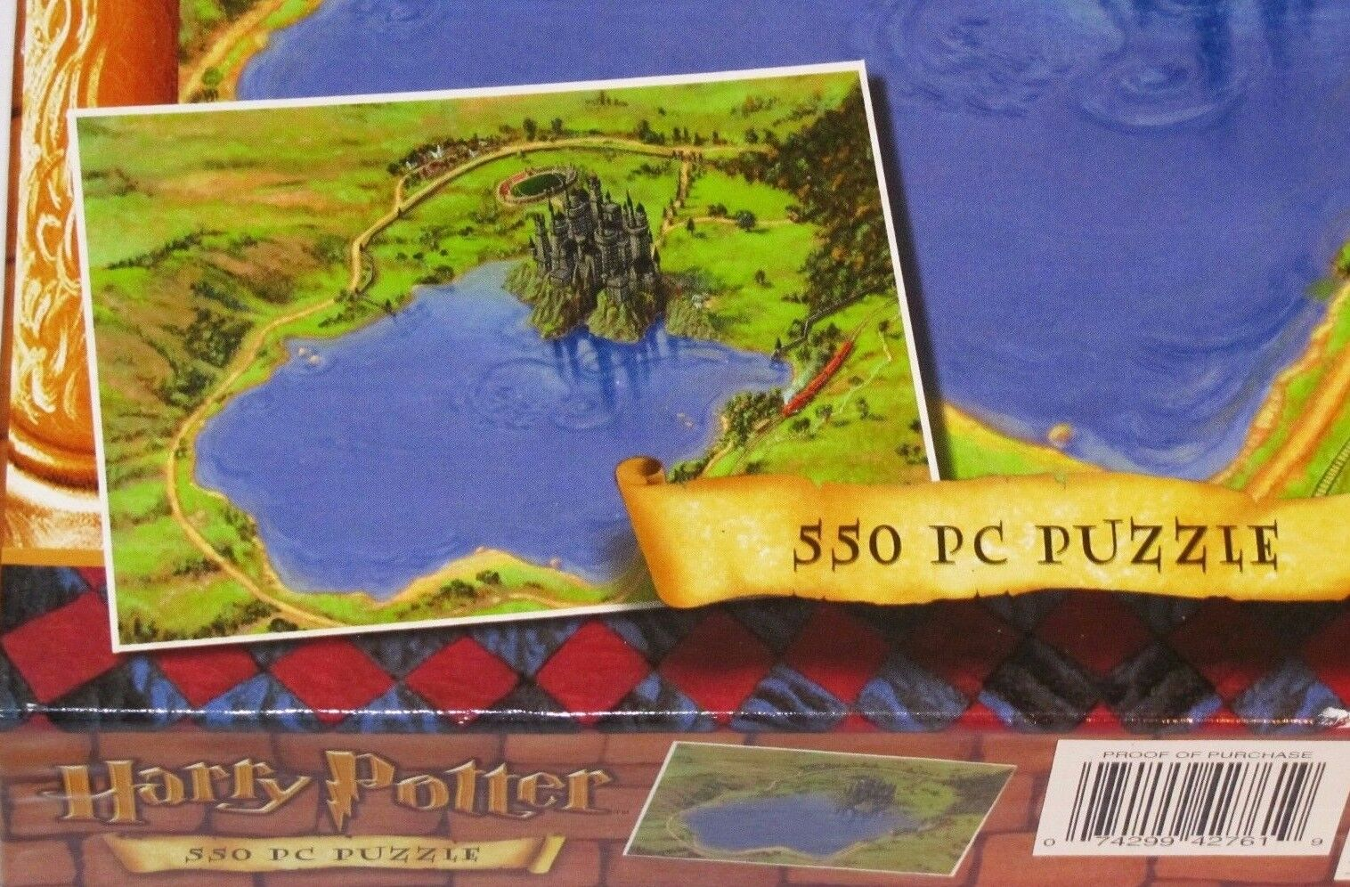 Harry Potter Hogwarts School Grounds and Castle PC 550 PC Castle Puzzle - NEW/SEALED 823e2f