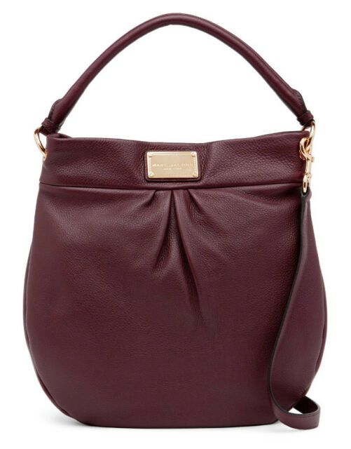 26e0fb3c4ce0 NWT MARC JACOBS Classic Leather Hobo Shoulder Bag Cordovan w/Gold-Tone  hardware