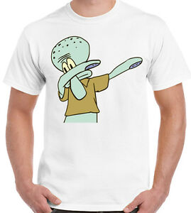 Squiddi-inseritrice-Spongbob-squarepants-Ispirato-Da-Uomo-Divertente-T-shirt-cartoon