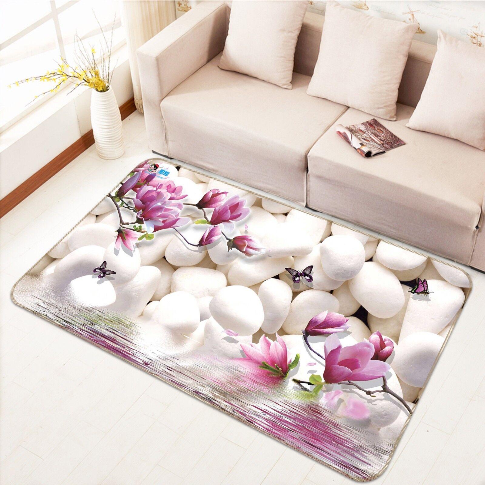 3D Stone Flowers 788 Non Slip Rug Mat Room Mat Quality Elegant Photo Carpet US