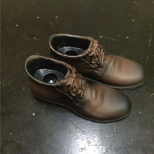 """Hot Toys 1//6 Scale Men/'s Leather Shoes Brown Boots For 12/"""" Male Figure Body"""