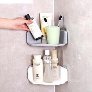 Suction Cup Corner Shower Shelf Bathroom Shampoo Holder Kitchen Storage Ra  TDUK   eBay