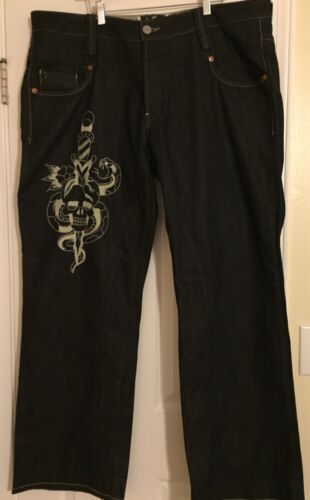 Design Mens Ed 42x34 Jeans Serpent Taille Hardey Serpent A01v1nq5w