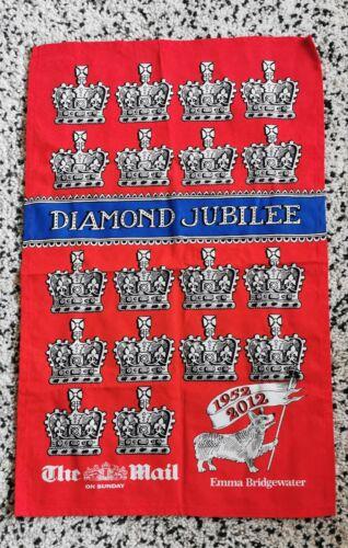 2012 Diamond Jubilee Emma Bridgewater Torchon avec couronnes /& CORGI non utilisé NEUF