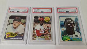 PSA-Ricky-Henderson-261-Lou-Brock-85-Harmon-Kilibrew-Graded-Topps-Baseball-Cards