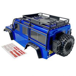 Traxxas TRX-4 Land Rover Defender 110 Corps Bleu Coque 8011 nouveau