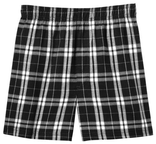 District Shorts DT1801 Young Men Flannel Plaid Boxer New