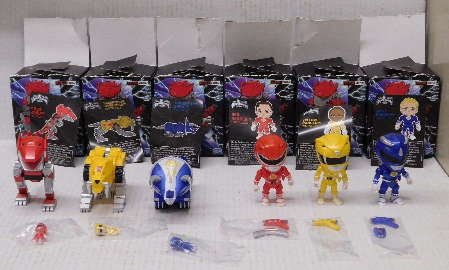 Loyal Subjects Mighty Morphin Power Ranger 6 Vinyl Figures Lot with Boxes
