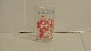 Vintage 1973 Archie Comic Jelly Glass Betty and Veronica Give a Party