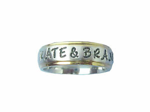New-Custom-Personalized-Couple-039-s-Name-Ring-6mm-Stainless-Steel-Gold-Edge