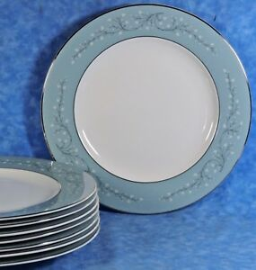 Image is loading 8-Vintage-Syracuse-China-MINUET-Dinner-Plates-Made- & 8 Vintage Syracuse China MINUET Dinner Plates Made In America- EUC ...