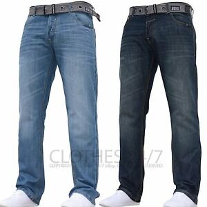 Fit Mens Straight Casual Branded Crosshatch Designer Smart Jeans qB1twSa