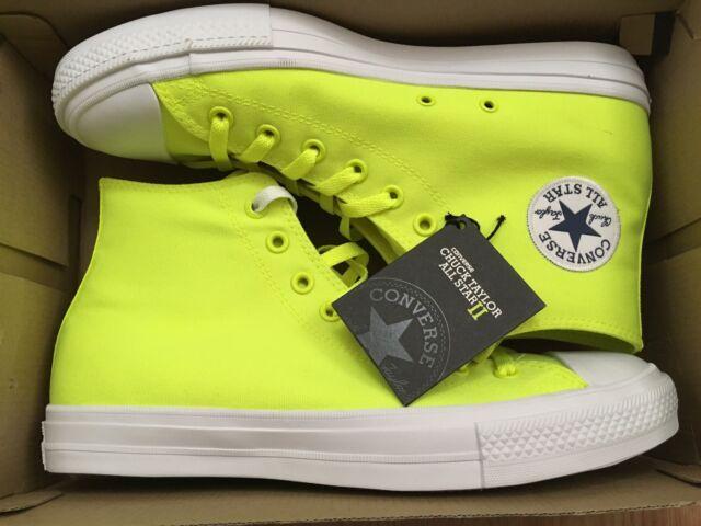 on sale 00542 77de8 Converse CT II HI 150157C Volt Green White Chuck Taylor ALL STAR Men s Size  10