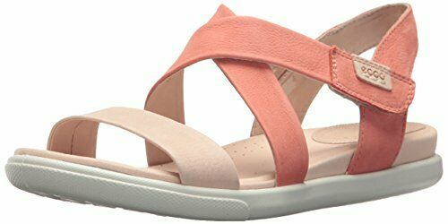 120 Ecco Damara pink Dust Coral Leather Summer shoes Comfort Sandals 7 7.5 5 38