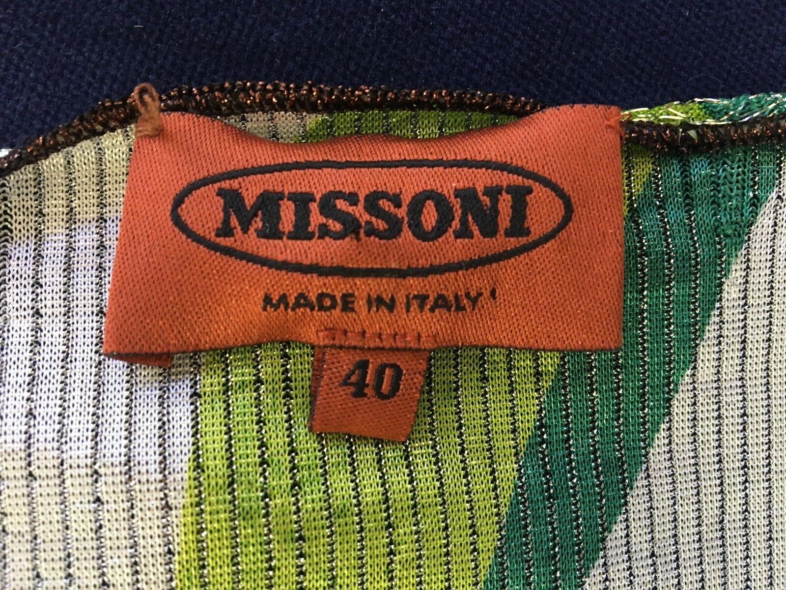 Metallic Metallic Metallic multi color MISSONI orange label wrap top cardigan, size 40 (S M) 15f8a6