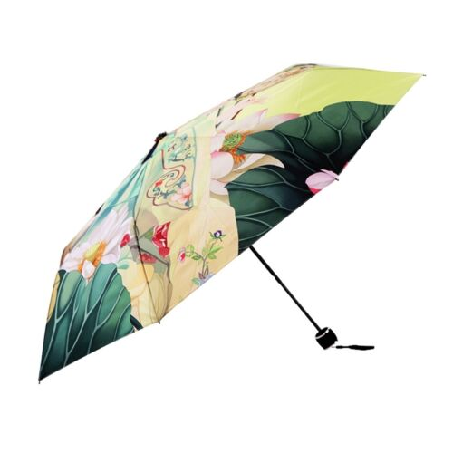New Women Umbrellas Chinese Retro Anti UV Parasol Folding Compact Rain Umrella