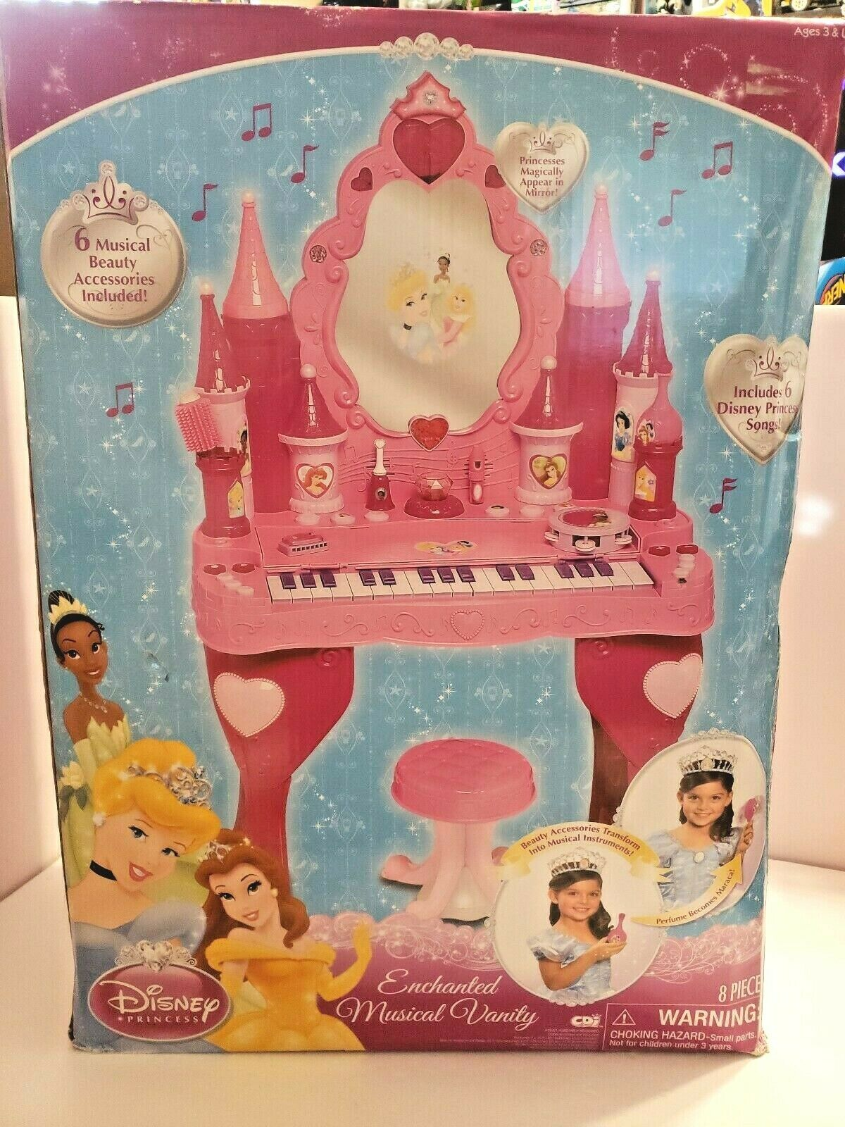 B12 Disney Princess Enchanted Musical Vanity Piano New