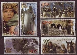 NEW-ZEALAND-2002-LORD-OF-THE-RINGS-034-THE-TWIN-TOWERS-034-SET-OF-6-FINE-USED