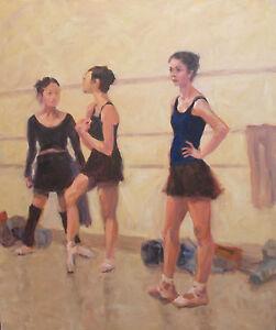 Tulsa-Ballet-Dancers-at-Rest-Tulsa-Ballet-OK-oil-on-canvas-by-Margaret-Aycock