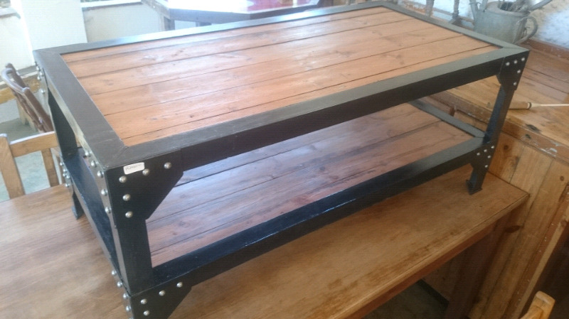Steampunk style coffee table
