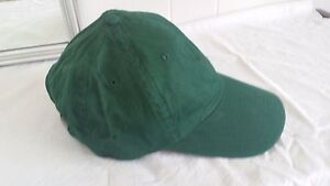 NEW Harvard Square Green Twill Baseball Cap Hat Ballcap Adult One ... 86dd13718ba8