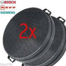 2 Carbon Filtro De Carbón Para Bosch Neff Siemens Extractor Campana Extractora De Repuesto