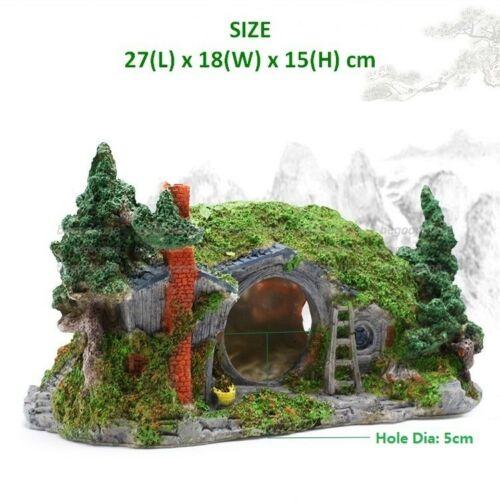 Hobbit House Dwarves Terrarium Aquarium Ornament Lizard Spider Turtoise Terrace