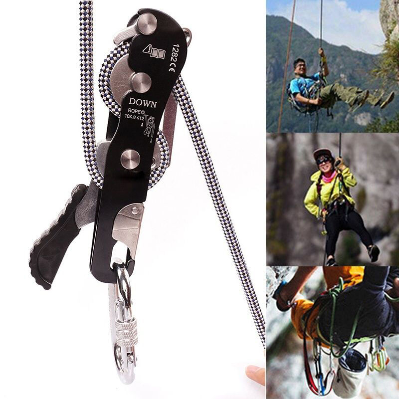 Stop Descender  Self-Braking Climb Rescue Rappel Belay Device  HOT  order now with big discount & free delivery