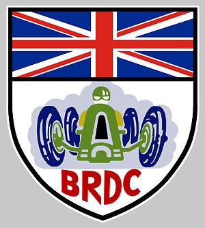 BRDC BRITISH RACING AUTOCOLLANT STICKER 10cmX9cm BA074