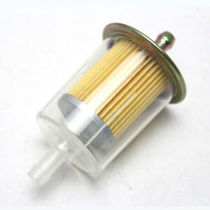 Inline-Gas-Petrol-Fuel-Filter-8mm-3-8-034-Pipe-Motorcycle-Dirt-Quad-Bike-Universal