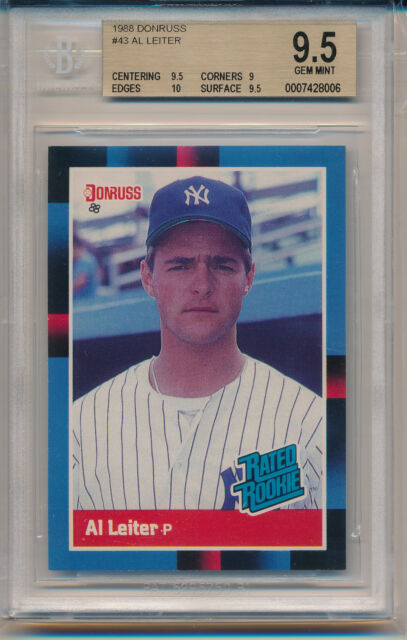 1988 Donruss Al Leiter Rated Rookie (Rookie Card) (#43) BGS9.5 BGS