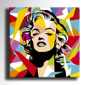 QUADRO-MODERNO-MARILYN-MONROE-POP-ART-DIPINTO-A-MANO-ASTRATTO-ABSTRACT