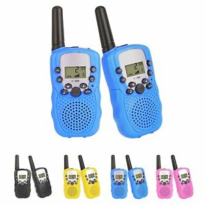 2x-8-Kanaele-400-470-MHz-UHF-Hand-Funkgeraet-Walkie-Talkie-Batterien-Radio-3km