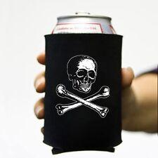 Victorian Skull & Bones Pirate Beer Soda Can Koozie Koolie Goth Insulator