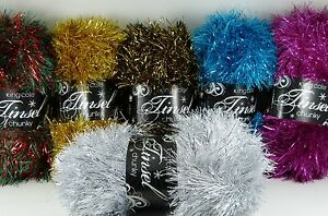 King-Cole-Tinsel-Chunky-50g-VARIOUS-SHADES-novelty-yarn-ideal-for-toys