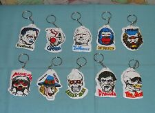 vintage LUMINOUS MONSTER KEY CHAIN LOT x10 keychain key ring King Kong Dracula