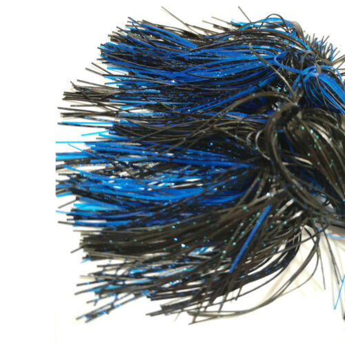 10pcs Silicone SKIRTS HOLE IN ONE SILICONE SPINNERBAIT SKIRT Black&Blue SF075