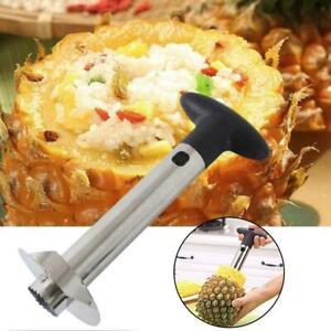 Edelstahl-Ananas-Schaeler-Slicer-Easy-Kitchen-Gadget-Tool-Obstschneider-M8A6