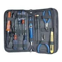 12pc Electronic Tool Kit W/ Soldering Iron.desoldering Pump.vom Meter Ac/dc
