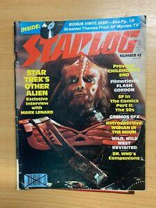 JAN-1981-STARLOG-MAGAZINE-42-BONUS-VINYL-SCI-FI-THEMES-DISK-MARK-LENARD