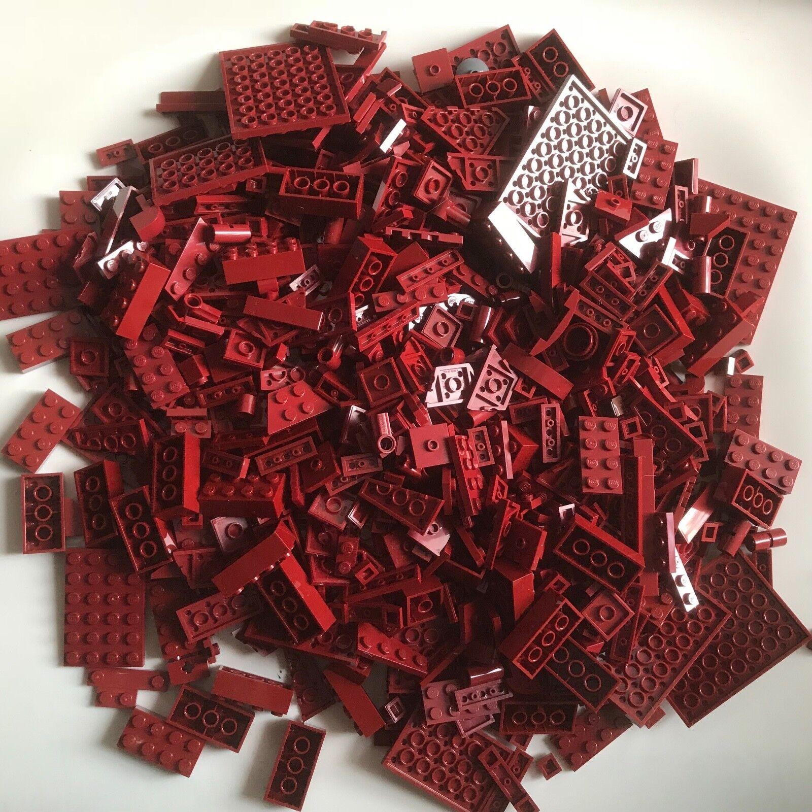 800 LEGO Neuf Rouge Foncé Building Pièces Lot Briques STAR WARS MARVEL Minecraft