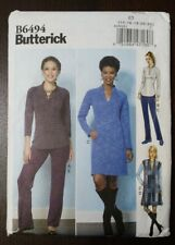 Butterick 306 6494 Womens Misses Top Vest Dress Pants Sz 6-14 Sz 14-22 Uncut