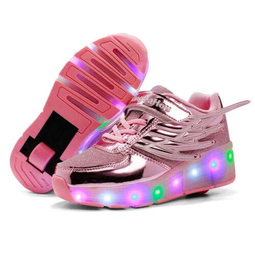 Kids Led Roller Skate Shoes Girls Boys Wheels Flashing Sneakers Sports Shoes