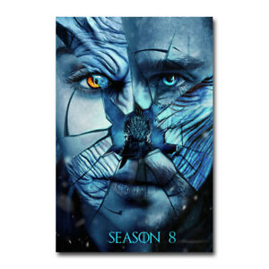 Game of Thrones Season 8 Movie Silk Canvas Poster Print 24x43 inch Home Decor