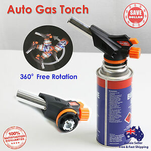 Butane-Gas-blow-Torch-Burner-Auto-Ignition-BBQ-Camping-Cooking-Chef-360-Rotate